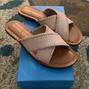 NWT Jack Rogers Sloan X blush colored sandals